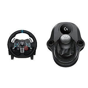 LogitechG29 DrivingForce Rennlenkrad (geeignet für PS4, PS3 und PC) (Generalüberholt)