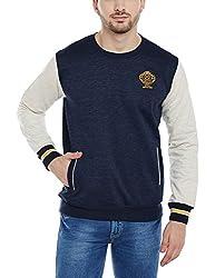 Duke Men Solid Sweatshirt 1968075031 Navy Mix Coloured XX-Large