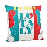 Black Temptation Dekorative Kissenbezug Büro/Sofakissen Flag Design Dekokissen-Italien