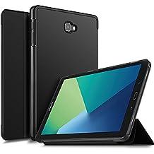 Samsung Galaxy TAB A SM-P580 con S-PEN Funda Case, IVSO Slim Smart Cover Funda Protectora de Cuero PU para Samsung Galaxy TAB A SM-P580 con S-PEN Tablet (Negro)