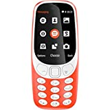 Snexian 3310 Dual Sim Dual Standby Keypad Mobile 1.77 Inch Big Display FM Radio Digital Camera MP3 Player Music Player Video Player Video Recorder Supported Multi Language Memory Expandable UP To 16 GB (Red)