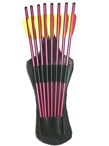Seitenköcher Köcher für Armbrustbolzen aus Kunstleder mit 8 Bolzen - Armbrust Köcher