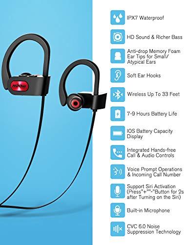 b2f52adb0e2917 72% OFF on Mpow Bluetooth Headphones (Basic Red) on Amazon ...