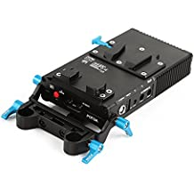 Fotga dp500iii Mark 3 ccups V Soporte Red batería Power Supply Versión Le con 15 mm Rod adaptador para videocámara DSLR película Making Sistema A7R A7S BMPCC BMCC 5D2 5D3 D500 fs700