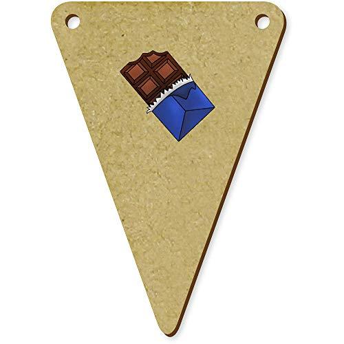 Azeeda 5 x 70mm 'Tafel Schokolade' Wimpel / Banner aus Holz (BN00056242) (Holz-tafel-banner)