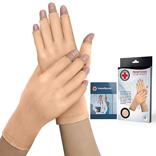 Guantes artritis desnudos Guantes compresión manual