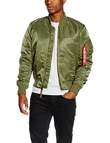 Alpha Industries Herren Jacke MA-1 VF 59, Grün (Sage Green 01), Large