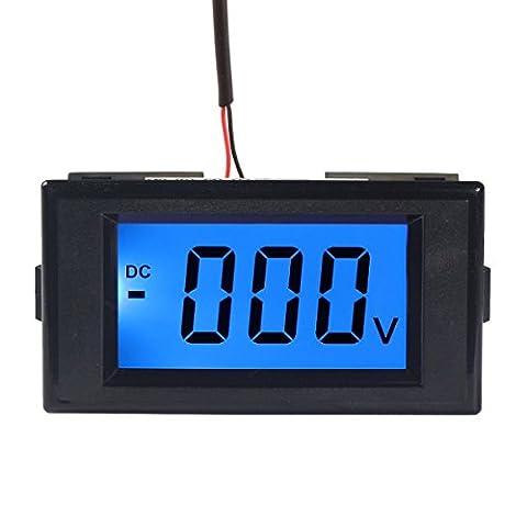 DEOK Digital Voltmeter Gauge DC 0-600V Voltage Panel Meter Monitor Blue LCD