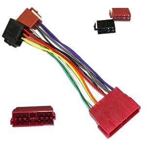 Aerzetix: Adaptateur B7 pour autoradio ISO câble convertisseur fiche faisceau compatible PEUGEOT CITROEN ref b7 - C2006