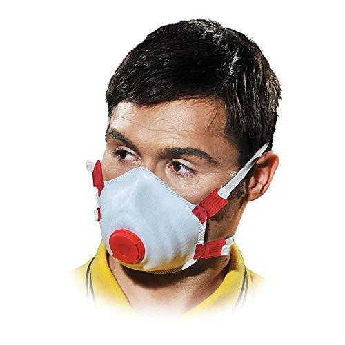 10x Protección Polvo Máscara respiratoria Máscara con válvula FFP3