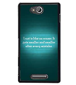Printvisa 2D Printed Quotes Designer back case cover for Sony Xperia C- D4555