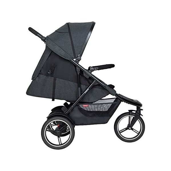 Phil&teds Dash Buggy with Seat Insert Black + Carrycot Baby Bath with Cover in Black phil&teds Box contents: 1 Phil&teds Dash buggy with seat insert black + baby bath (Carrycot) with cover black With a second seat, can be used as a twin and siblings for 2 children (not included, please order separately) 11.2 kg lightweight and slim 58 cm. 4