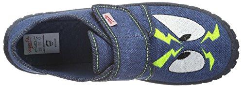 Superfit Bill 700270, Chaussons garçon Bleu-vert (88)