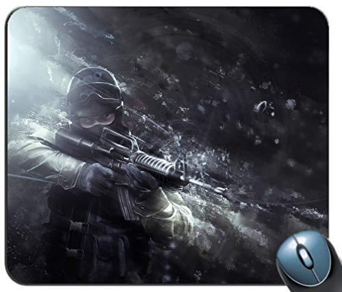 Mauspad Gaming Mat Tastatur Pad Wasserdichtes Material Rutschfeste Rechteck Mauspad Soldat Helm Maske Muster