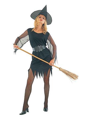 Kultur Pop Halloween Kostüm - Damen Halloween Sexy Hexe Kostüm Onesize EUR 36-42 (Onesize (EUR 36-42), Schwarz)