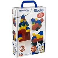 Miniland - Blocks, 60 piezas en estuche (32309)