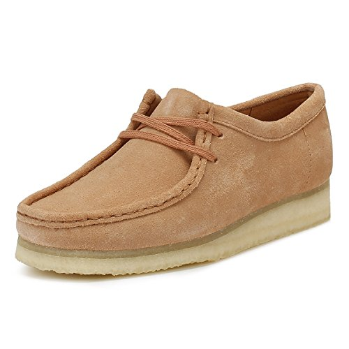 Clarks Originals Damen Sandstone Wallabee Wildleder Schuhe-UK 8 (Wallabee-schuhe Frauen)