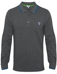 Kenzo Tiger Logo Graphite à manches longues gris Polo Shirt