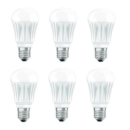 6x Bombilla LED E2775, W equivalente a 40W OSRAM Bombilla LED (2700K 470lm Duración 30.000H regulable Diámetro 62mm [Clase energética A]