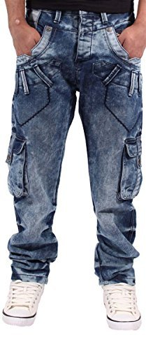 peviani Herren Jungen Cargo Combat Star Jeans G Blu Stafford