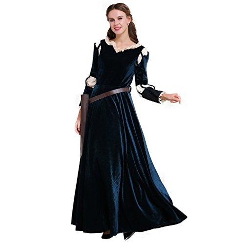 inzessin Kostüm Set Verkleidung Party Halloween Cosplay Kostüm Kleid (Ups Paket Halloween-kostüm)
