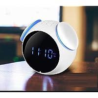 WDDqzf 1 Unids Altavoz Bluetooth Inalámbrico Reloj Alarma Compatibilidad con Tarjeta TF Reproducción de Radio FM