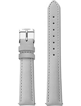 Cluse Damen Armbanduhr Zubehör Lederbänder Leder Minuit Strap Grey/Silver grau CLS320