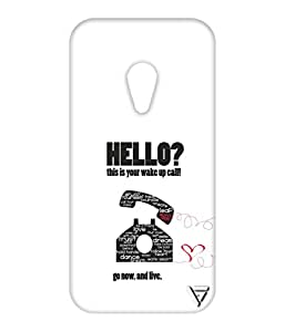 Vogueshell Hello Printed Symmetry PRO Series Hard Back Case for Motorola Moto G2