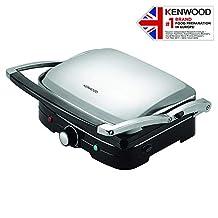 Kenwood 1500W Health Grill, HG369, Black/Silver, 1 Year Brand Warranty