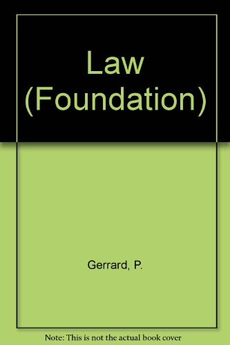 Law (Foundation) por P. Gerrard