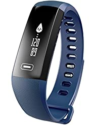 Montre Connecté ,Kivors Fitness Bracelet Blutooth Health Tracker d'Activité Bracelet Tension artérielle Podomètre Santé Calorie et Distance pour Android et iOS Smartphones