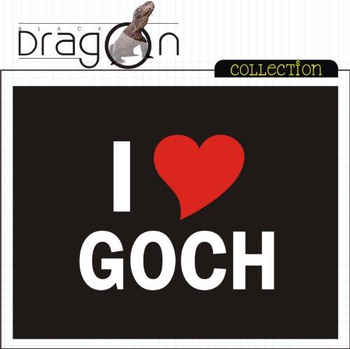 T-Shirt mit Städtenamen - i Love Goch - Herren - unisex Schwarz