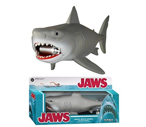 Preisvergleich Produktbild DER WEISSE HAI (JAWS) Actionfigur im Retro-Style, ca. 24cm (mit Modell einer Sauerstoff-Flasche)