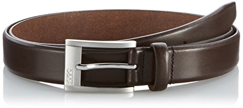 HUGO Herren Gürtel C-Brandon 10112744 01, Braun (Dark Brown 203), 115 cm