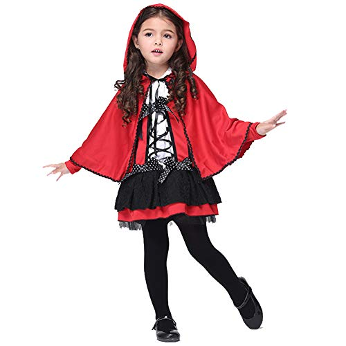 Weißen Und Schwanz Kostüm Hut - HSKS Halloween Rock, Rote Hut Umhang Cosplay Performance Kostüm Maskerade Cosplay Kostüm
