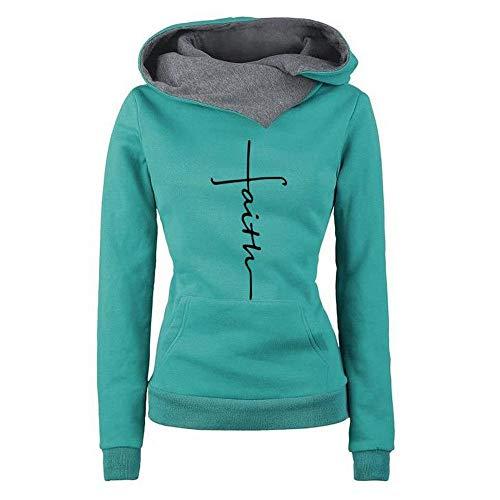 BaZhaHei Damen Frauen Kapuzenpullover mit Hohem Kragen Feste Sweatshirt Pullover Slim Fit PulloverKleid Herbst Winter Streetwear Kapuzenpulli Bluse Tops