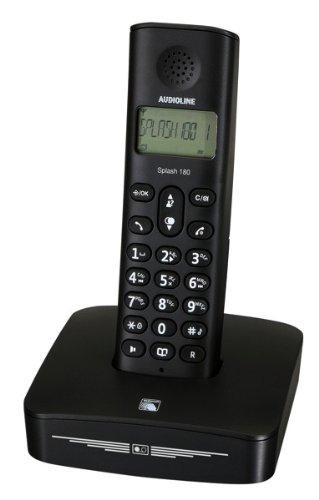 Audioline Splash 180 Schnurlostelefon mit LED Anzeige schwarz