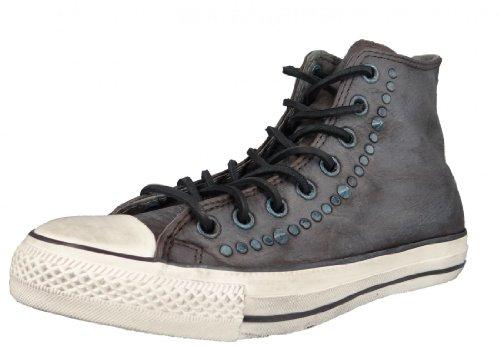 Converse Chucks John Varvatos Premium Leder mit Nieten Grau Braun 132841C Chocolate, Größe:EUR 43