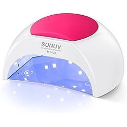 SUNUV SUN2C 48W UV lámpara de luz LED Secador de uñas de gel con temporizador, Sensor para uñas de gel y Toe Nail Curing