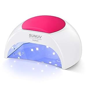 SUNUV SUN2C 48 W Sèche-linge de Kit ongles UV Lampe de lumière LED avec minuteur, capteur pour séchage des ongles Kit ongles et des orteils