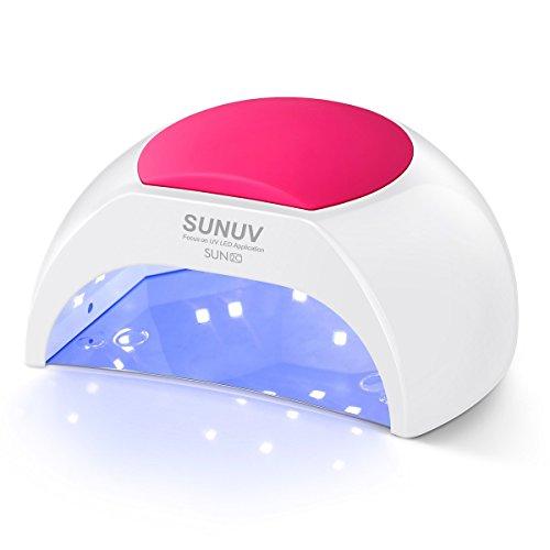 SUNUV SUN2C Lampada Unghie UV LED da 48W Manicure/Pedicure LED per Smalti in Gel,in Automatico Sensore Lampada LED unghie per LED UV Professionale per Manicure Sensore con 4 Timer Preimpostati