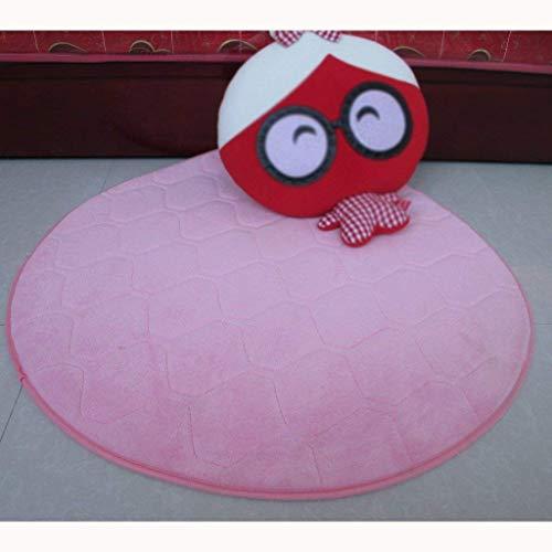 BAIBAI Teppich Super Soft Coral Farbe Kopfsteinpflaster Teppich rund Computer Stuhl Teppich kann den Teppich im Wohnzimmer waschen,1000 * 1000 mm,# 6 -