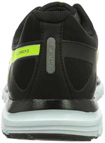 Asics Gel-Zaraca 3, Chaussures de trail homme Noir (7104-Aluminium/Flash Yellow/Black)