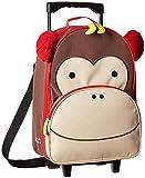 Skip Hop Zoo Luggage, Reisetrolley für Kinder, mit Namensschild, mehrfarbig, Affe Marshall