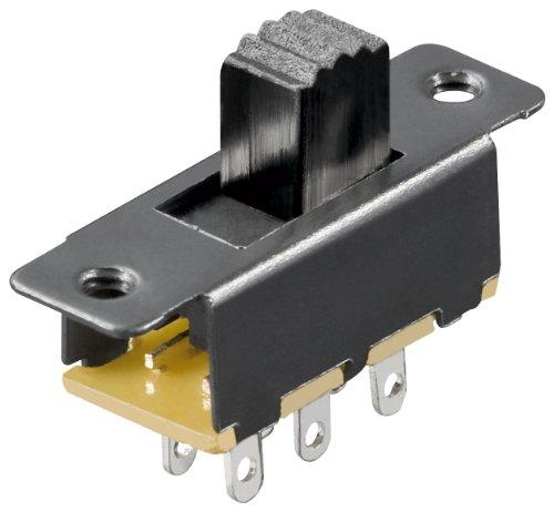 MANAX Schiebeschalter (20 Stück) 6 Pins 2xUM Lochabstände 19 mm -