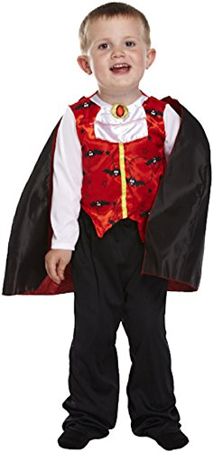 Witch Vampire Devil Spider Fancy Dress Frankenstein Costume (2-3 years, Toddler Vampire) ()