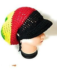 33f578bdaf980 Tutu Handmade Rasta Hat Bob Marley Hat with a Brim by