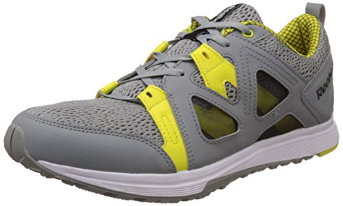 Reebok Men's Train Fast Xt Flat Grey, Solar Green, Gravel, White and Black Multisport Training Shoes - 6 UK  available at amazon for Rs.3219