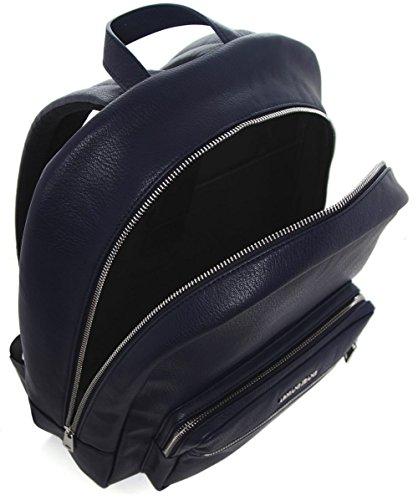 Armani Jeans Hommes Sac à dos en faux cuir Bleu Bleu db7477c9e5b