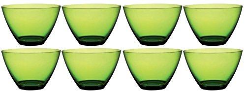 MEPRA 8rund Obst & Salat Servieren Schüssel Küche Server Tief Rührschüsseln Gericht-12Zentimeter-Polycarbonat grün Acht Pack